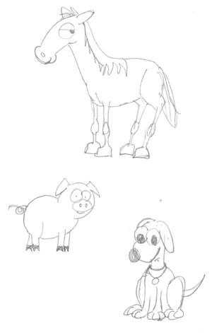 Animal Stick Figures 2